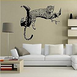 Ljtao Extraíble Leopardo Negro Animales Pegatinas De Pared Decoración Para El Hogar Sala De Estar Dormitorio Adhesivo Del Coche Calcomanías Arte Murales Diy