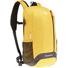 Quechua Hiking Camping Water Repellent Backpack Arpenaz 20L (Yellow/Grey) by Quechua