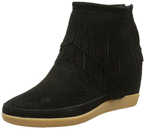 SHOE THE BEAR Damen Emmy Fringes Hohe Sneakers, Schwarz (Black), 39 EU -