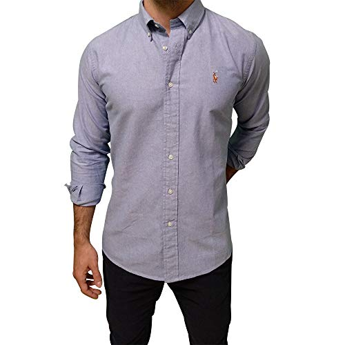 Ralph Lauren Oxford Shirt Slim Fit (L, Light Blue)