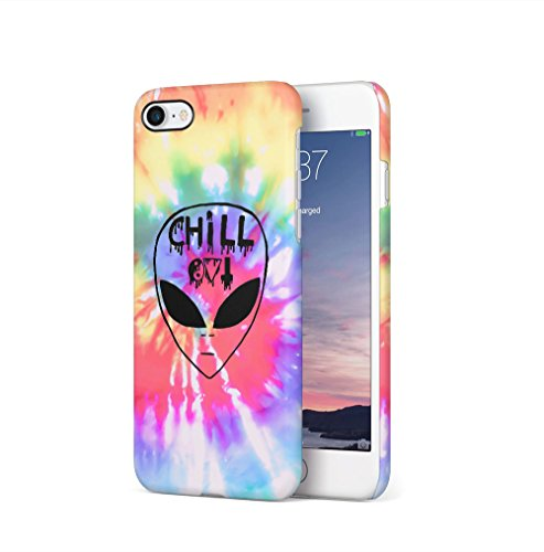 Weed Stoned Marijuana Leaves Apple iPhone 7 / iPhone 8 SnapOn Hard Plastic Phone Protective Custodia Case Cover Chill Alien