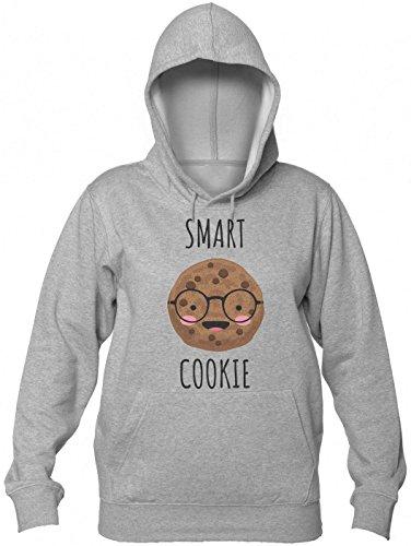 Finest Prints Smart Cookie Pun Design Kapuzenpulli für Damen Small