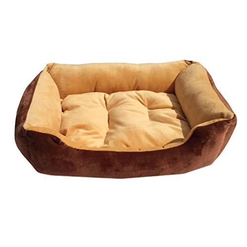 Jeelinbore lavabile morbido cuccia cuscini per cani divano letto per cane gatto (leggero marrone, xl: 80 * 60cm)