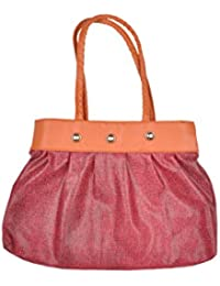 JHD Maroon Gold Shoulder Bag