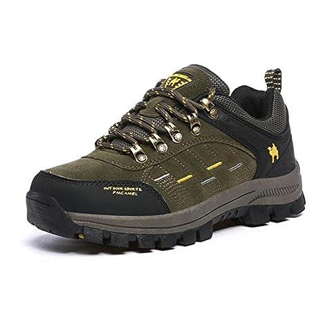 Hommes et hommes imperméables Chaussures de sport en plein air Sneakers bottes de dentelle à lacets faible hauteur Antidérapantes antidérapantes Trekking escalade camping Chaussures d'alpinisme Femmes , green , 42