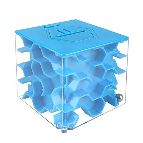 Preisvergleich Produktbild SainSmart Jr. Amaze CB-23 Maze Cube, Money Bank, Puzzle Box (Blau)