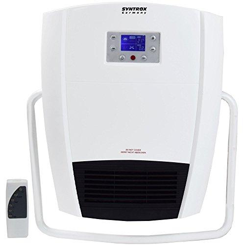 Syntrox Germany Digitaler Badheizer mit Fernbedienung und Handtuchhalter