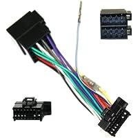 AERZETIX Adaptador con ISO cables enchufes para autoradio