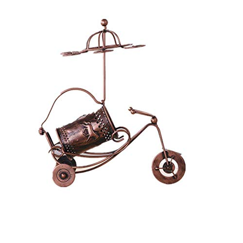 YZH Pferdeblume Chariot Wine Rack Creative Goblet Upside Down Wine Rack European Wrought Iron Material Personality Multi-Function Durable Fashion