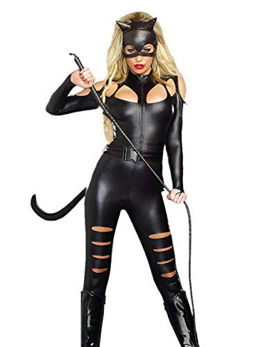 "Figurbetontes Damen-Kostüm ""Catwoman"", aus PVC-Kunstleder. Gr. 12, -"