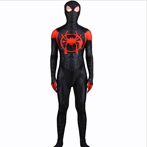 BLOIBFS Spiderman Cosplay Kostüm Kinder,Superheld Halloween Film Kostüm Requisiten Bodysuit Dress Ups Und Zubehör Party Cosplay Kostüme,Male-S
