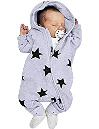 b1a326c1c351 0-2 Years Old, New Fashion Newborn Infant Baby Girls Boys Stars Print Hooded