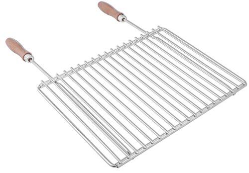 Grille de barbecue en inox européene, réglable en largeur, de 40-55x30cm, Grille...