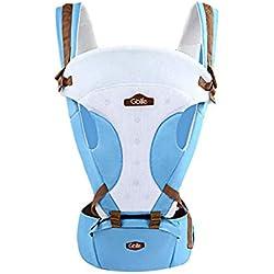 GBlife Mochila Portabebé 5 en 1 de Diseño Ergonómico Ajustable Portadores Marsupios para Recién Nacidos/Bebé (Azul Claro)