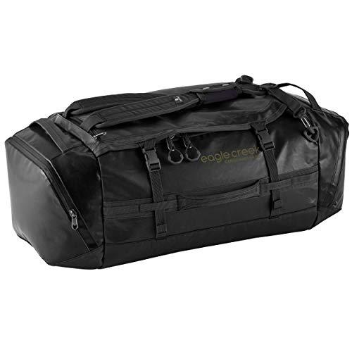 Eagle Creek Cargo Hauler Duffel Bag 60L, faltbare Reisetasche, aus abrieb- & wasserbeständigem TPU-Gewebe, Rucksack und Koffer in einem, Jet Black, M