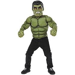 Avengers Disfraz infantil Hulk con pecho, mascara y guantes, en caja, M (Rubie's Spain 34101)