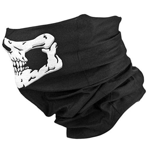 (Laduup Nahtlos Schädel Gesicht Schlauch Maske Motorrad Gesichtsmaske Multifunktionstuch Skull Face Mask Shield Gesichtsmaskefür Paintball/Fahrrad/Ski Snowboard/Wandern/Biking/Rave Maske)