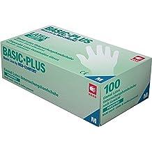 Látex guantes EN420Talla M (látex, sin talco, izquierda y derecha compatible con Caja a 100unidades, precio por caja