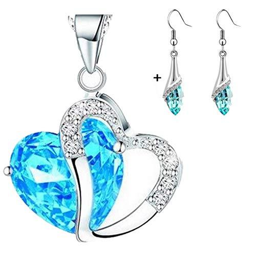Dorical Damen 925 Sterling Silber 3A Zirkonia Halskette exquisite Geschenk/Frauen Halskette Beliebte Schmuck dchen Geschenk Promo(D)