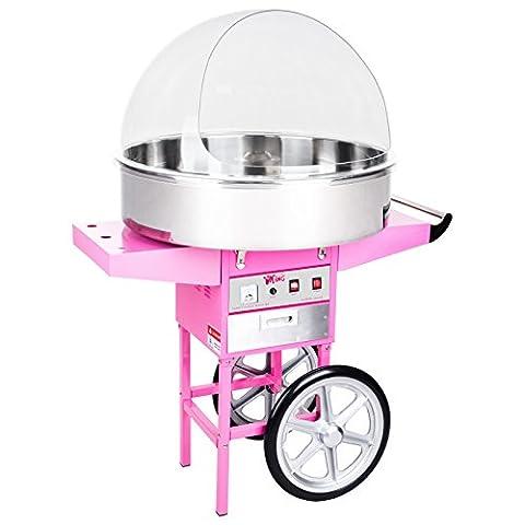 Royal Catering - RCZC-1200XL - XXL Machine à barbe à papa - cuve de 72 cm - sur chariot - avec bulle - 1200 W