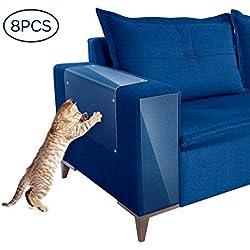YOUTHINK Protector de Arañazos de Gatos, 8 pcs Protector de Muebles Gatos, protector sofa gatos, Stop Cat Scratching Couch, Puerta y Otros Muebles y Asiento para el automóvil, Antiarañazos y Protección de Muebles