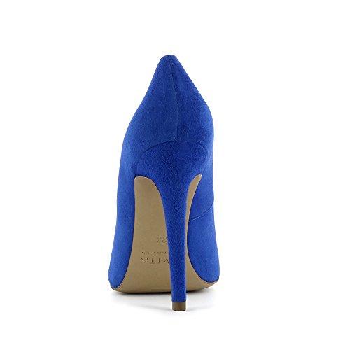 Evita Shoes Lisa, Scarpe col tacco donna blu royal