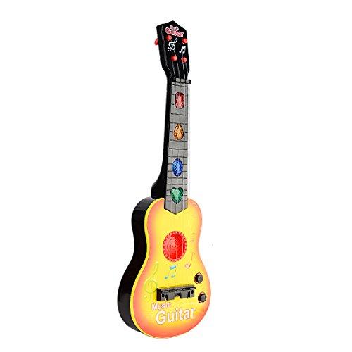 Elektrische Gitarre Kinder, Vicoki Kinder 4 String Gitarre Kinder Musikinstrumente Spielzeug mit Licht Spielen Funktion 47cm (Kleinkind-string-licht)