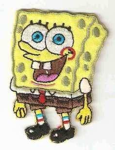 Spongebob Schwammkopf Eisen nähen auf bestickt Patch Art craft- ideal für Kinder Kleidung von Chewybuy (Spongebob Schwammkopf-kleidung)