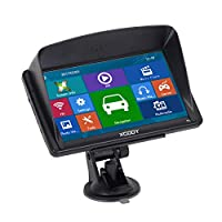 XGODY 712 SAT NAV GPS Navigation System 7 Inch 8GB 256MB Car Truck Lorry Satellite Navigator Device Post Code Search Speed Camera Alerts Pre-installed UK&EU Latest 2018 Maps with Lifetime Free Update