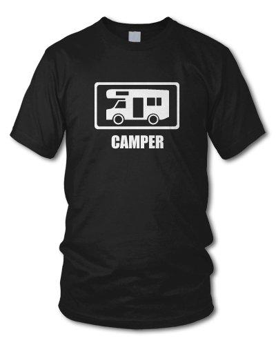 shirtloge - CAMPER - KULT - Fun T-Shirt GAMER - in verschiedenen Farben - Größe S - XXL Schwarz
