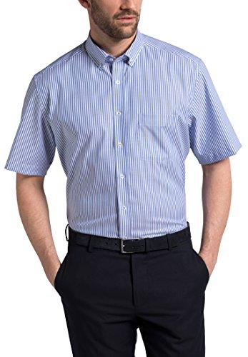 eterna Kurzarm Hemd Modern Fit Oxford Gestreift (Button-down-gestreiftes Oxford-hemd)