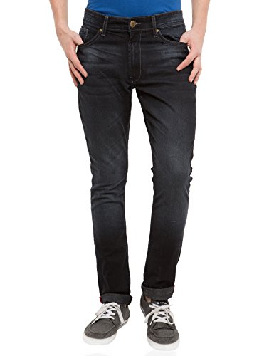 Locomotive Solid Black Jeans