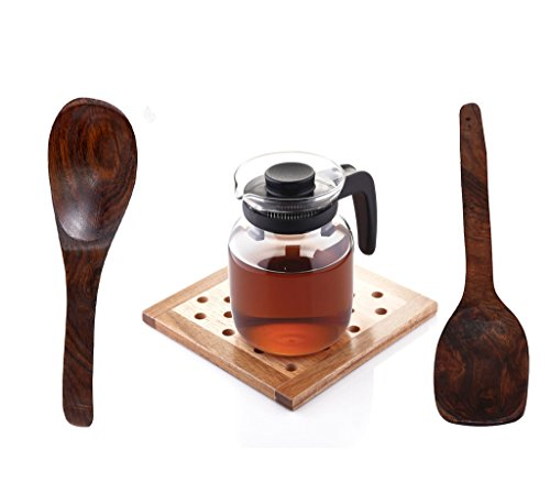 Borosil Carafe with Strainer in Lid, 1.5 Litres + 2 Non Stick Wooden Ladle  available at amazon for Rs.1215