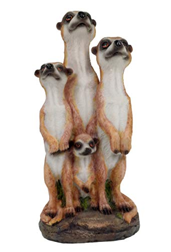 Unbekannt Erdmännchen Familie Figur Gartenfigur 20 cm