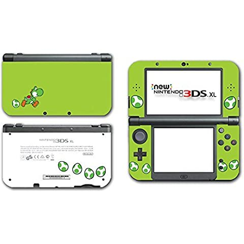 Yoshi Special Egg Green Edition Super Mario Bros Cute Dinosaur New Island DS Woolly World Video Game Vinyl Decal Skin Sticker Cover for the New Nintendo 3DS XL LL 2015 System Console Protector by Vinyl Skin