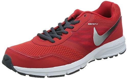 Nike Air Relentless 4, Chaussures de Running Homme Multicolore - Rojo / Plateado / Negro (Unvrsty Rd / Mtllc Slvr-Blk-Dk M)