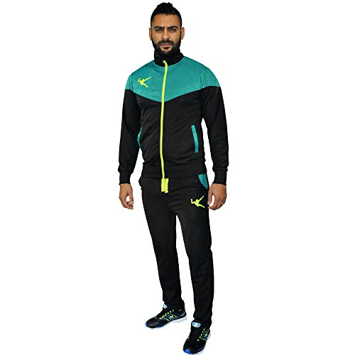 tuta uomo full zip acetata LEGEA art. 315 (nero, L)