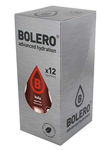 Bolero Drink - Kola mit Stevia (12er Pack) - Wasser-pulver Aromatisiertes