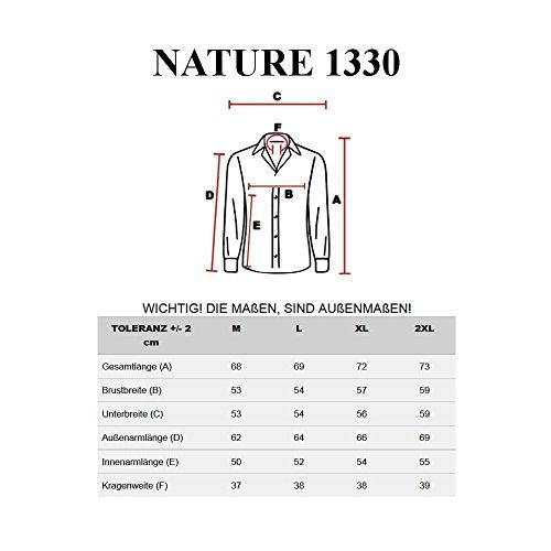 BOLF Herrenhemd Herrenshirt Slim Mit Kapuze Casual Elegant NEW NATURE 1330 Ecru