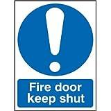 94,6L.- Express Fr06904r Fire Door Keep Shut Symbol Sign, 100mm x 75mm, rigide