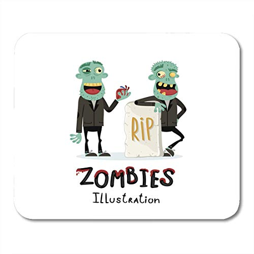(Mouse Pads Couple Zombie Man Near Rip Gravestone in Cartoon Halloween Undead Horror Monster Personage Apocalypse Mouse Pad 7.08 (L)x 8.66 (W) inch for Notebooks,Desktop Computers Office Supplies)