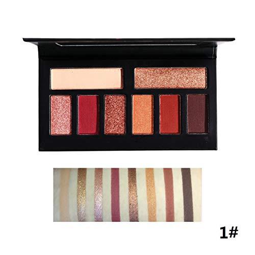Symeas 8 Shades Mat et Shimmer Maquillage Palette De Fard À Paupières Pigmentée De Longue Durée Imperméable À L'eau De Noël Cadeau