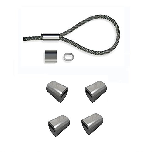 Aluminium Pressklemme NG4,0 / 4,0mm Drahtseil - 100 Stück - 4 0 Aluminium-draht