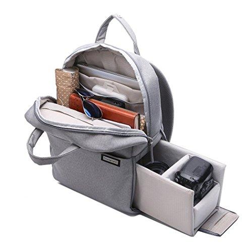 Olympus Gadget Bag (Multifunktions Mode Dslr Slr Kameratasche Tablet Laptop Tasche Wasserdichte mit Regenschutz,langlebige Kamera Rucksack für Sony Canon Nikon Olympus Slr / Dslr Kameras, Objektiv und Zubehör)