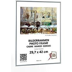 ALU POSTER BRUSHED - 50x70 cm (B2) - plata mate - de aluminio marco de fotos, de afiche