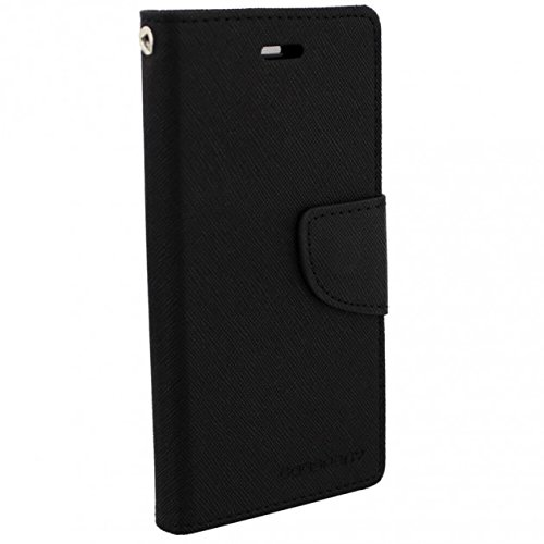 SDO™ Luxury Wallet Style Mercury Diary Flip Case Cover with Card Holder and Stand for Motorola Moto E2 2nd Gen (Black)