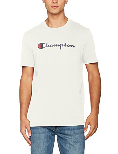 Champion Herren Crewneck T-Shirt-Institutionals, Weiß (Vapy), Large (T-shirt Weißen Champion)