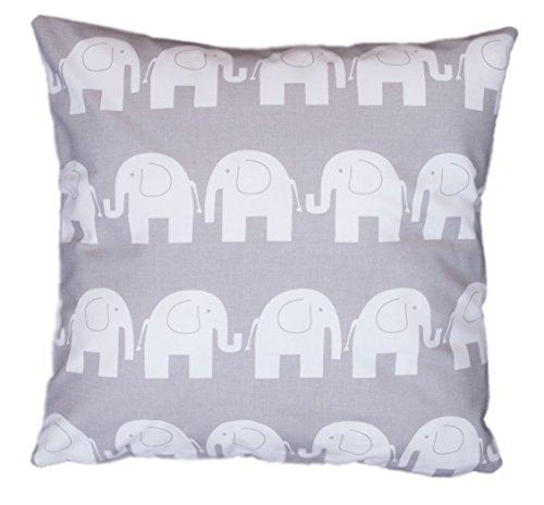 Amilian® Dekokissen Kissenbezug Kissen 80cm x 80cm Elefant grau