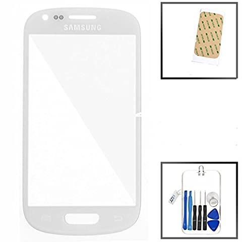 SAMSUNG GALAXY S3 mini i8190 weiß FRONT GLAS GLASS DISPLAYGLAS SCREEN LENS (kein LCD