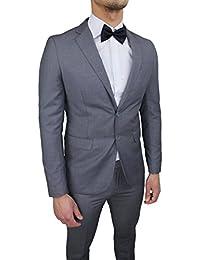 Abito completo uomo sartoriale grigio slim fit aderente nuovo elegante  cerimonia ced54319a19